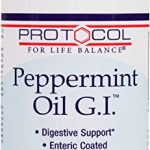 Protocol For Life Balance – Peppermint Oil G.I.- with Ginger & Fennel Oils – Supports Digestive System Health – 90 Softgels