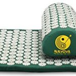 Nayoya Back and Neck Pain Relief – Acupressure Mat and Pillow Set – Relieves Stress, Back, Neck, and Sciatic Pain – Comes with a Vinyl Carry Bag for Storage and Travel – As Seen in USA Today