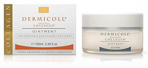 Dermicoll Pure Marine Collagen to Aid Psoriasis Treatment, Eczema Treatment, Pruritus, Skin Irritation & Dryness - Removes Scales, Soothes Skin, Promotes Collagen Production - Steroids Free - 100 ml
