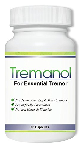 Tremanol - All Natural Essential Tremor Supplement - Provides Long-Term Herbal Relief to Reduce and Soothe Shaky Hands, Arm, Leg, & Voice Tremors Plus Includes Bonus ET Recipes E-book