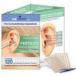 Fertility Ear Seed Kit- 120 Ear Seeds, Stainless Steel Tweezer