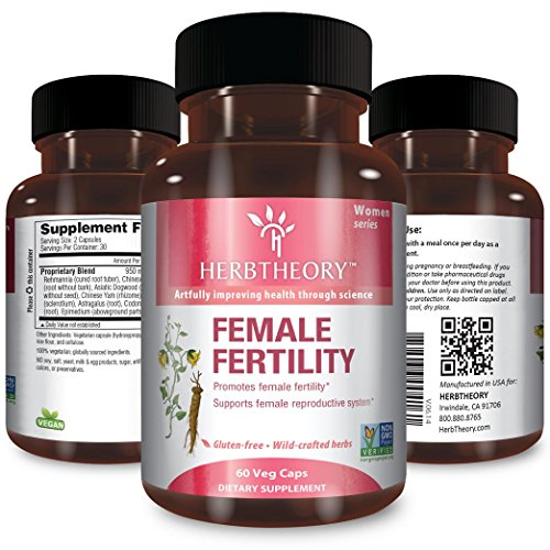 Female Fertility Supplement for Women by Herbtheory (950mg, 60 Capsules)