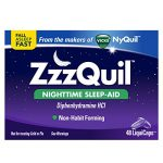 ZzzQuil Nighttime Sleep Aid, Diphenhydramine HCl,  48 Liquicaps