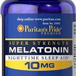 Puritan's Pride Super Strength Melatonin 10mg Rapid Release Capsules, 60-Count