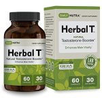 Herbal T Natural Testosterone Booster: Increase Energy, Endurance, and Libido. Male Enhancement Supplement Featuring Clinically Proven KSM-66 Ashwagandha (30 day supply)