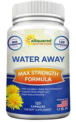 Water Away Diuretic (120 Capsules) - Herbal Water Pills for Healthy Weight Loss & Water Balance, Natural Diuretics Supplement with Dandelion, Potassium & Green Tea - Relieve Water Retention & Bloating