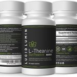 Lucid Lumin Suntheanine L-Theanine 150mg, 60 Tiny Capsules to Support Stress Relief, Anxiety Relief, Sleep Better, Thyroid Support, Adrenal Support, 1 Year Money Back Guarantee