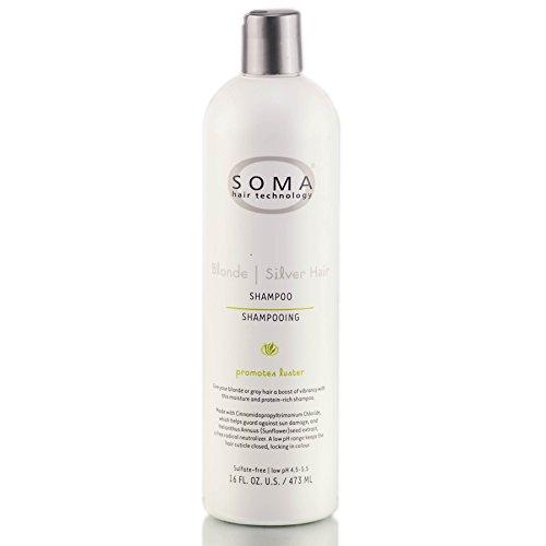Soma Blonde Silver Hair Shampoo 16 FL. OZ. / 473 ML by Soma Hair