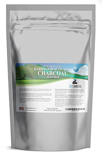 Hardwood Activated Charcoal Powder 100{0ad59209ba3ce7f48e71d4a0dc628eee9b107ea7079661ded2b3bda89b047a8b} from USA Trees 8 oz. All Natural. Whitens Teeth, Rejuvenates Skin and Hair, Detoxifies, Helps Digestion, Treats Poisoning, Bug Bites, Wounds. FREE scoop!