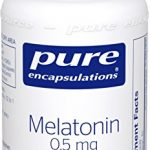 Pure Encapsulations – Melatonin 0.5 mg – Hypoallergenic Supplement Supports the Body's Natural Sleep Cycle* – 60 Capsules