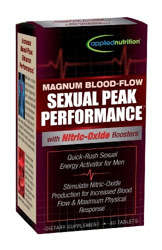 Applied Nutrition Magnum Blood-Flow Sexual Peak Performance Capsules, 40 Count