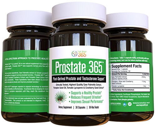 Plant-Based Prostate and Testosterone Solution, Combines Saw Palmetto Extract, Pumpkin Seed Oil, Tomato Lycopene and Cranberry Extract