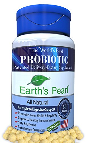 60 Day Supply – Earth's Pearl Probiotic & Prebiotic – 15X More Effective Than Capsules – Advanced Digestive and Gut Health for Women, Men and Kids – Verified Ingredients