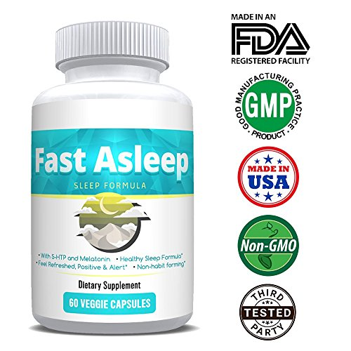 FAST ASLEEP - All NEW Fast-Acting Sleep Formula - All-Natural and More Than Just Valerian, Tryptophan, Melatonin, HTP-5, Hops - It's Sleep In Another World!