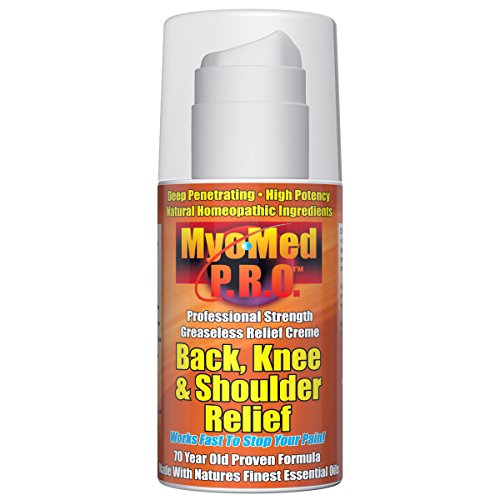 Best Sciatica Pain Relief Cream. Nine Potent Packed Pain Relievers Give You Guaranteed Pain Relief For All Back, Knee & Shoulder Pain. Works Fast On All Muscle, Joint & Nerve Pain. - Myomed PRO 3.5oz.