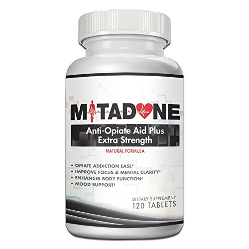 Mitadone Anti Opiate Aid Plus|Extra Strength Formula|Natural Formula (120 Count)Vicodin,Percocet,Methodone,Suboxone, Oxycontin,Codeine,Hydrocodone,Oxycodone, Morphine,Heroin and other Painkillers.