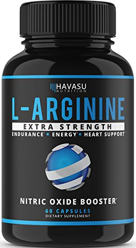Extra Strength L-Arginine - 1200mg Nitric Oxide Booster for Muscle Growth, Libido, Vascularity & Energy | Cardio Heart Supplement With L-Citrulline | Essential Amino Acids To Train Longer & Harder