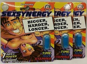 SexSynergy All Natural Male Enhacement - Bigger - Harder - Longer - 4 Pack
