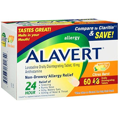 Alavert 24-Hour Non-Drowsy Allergy Relief (60-Count Citrus Burst Flavor Orally Disintegrating Tablets)