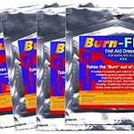 Burn-FIX- 4 Pack-Burn Care Treatment & First Aid Hydrogel Dressing. Immediate Pain Relief Gel/Cream For First & Second Degree Burns, Chemical, Electrical, Grease, Razor and Sunburns. 4 X 4 in.