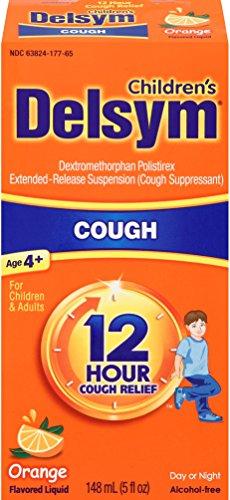 Delsym 12 Hr Children's, Cough Relief Liquid, Orange, 5oz