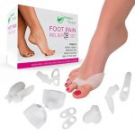 Bunion Relief (12pcs Set) – Treat Foot Pain, Hallux Valgus, Tailor's Bunion, Pain in Big Toe Joint, Hammer Toe and more. Includes Toe Spacers, Separators and Straighteners. 1 Year Warranty.