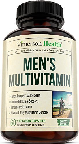 Men's Daily Multivitamin Supplement - Vitamins A C D E B1 B2 B3 B5 B6 B12, Saw Palmetto, Zinc, Selenium, Spirulina, Calcium, Lutein, Magnesium, Green Tea, Biotin. Natural Non-Gmo Multivitamins for Men