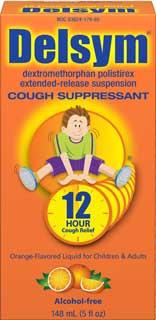 Delsym Children's Cough Suppressant Grape with Dosage Cup (5 Fluid Ounces) Product Shot