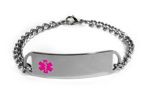 KIDNEY DISEASE Medical ID Alert Bracelet with Embossed emblem from stainless steel. D-Style, premium series.