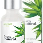 InstaNatural Vitamin C Serum with Hyaluronic Acid & Vit E – Natural & Organic Anti Wrinkle Reducer Formula for Face – Dark Circle, Fine Line & Sun Damage Corrector – Restore & Boost Collagen – 1 OZ