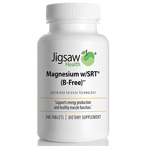 Jigsaw Health Magnesium w/SRT - Premium, Organic, Slow Release Magnesium Supplement - Active, Bioavailable Magnesium Malate Tablets