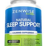 All Natural Sleeping Aid – Nighttime Sleep Support Supplement – With 100 MG 5 HTP + Magnesium to Fall Asleep Fast – Chamomile & Melatonin for a Calm & Restful Night – Non Habit Forming – 60 Capsules