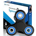The Official Anti-Anxiety 360 Spinner with EBOOK [Titanium Alloy] Helps Focusing and Spins Over 4 Min – Fidget Toys [3D Figit] for Kids Stress Reduce ADHD Anxiety Steel Bearing (Black & Blue)