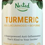 TURMERIC CURCUMIN | Turmeric Extract 1000mg + Black Pepper 10mg | Natural Anti-Inflammatory Pain Relief Supplement | High Absorption, Boost Immunity & Gut Health, Reduce Inflammation | Vegan Capsules