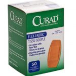 Curad NON25524Z Fabric Adhesive Bandages, 2″ x 4″, Natural (Pack of 50)
