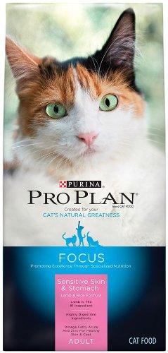 Purina Pro Plan FOCUS Adult Sensitive Skin & Stomach Lamb & Rice Formula Dry Cat Food - (1) 7 lb. Bag
