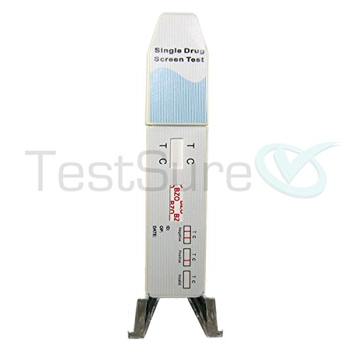 10 TestSure Benzodiazepine (BZO) Drug Test Kit, At Home Urine Drug Screen for Benzo Medications such as Xanax & Valium