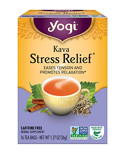 Yogi Tea, Herbal Kava Stress Relief, 16 Count (Pack of 6), Packaging May Vary