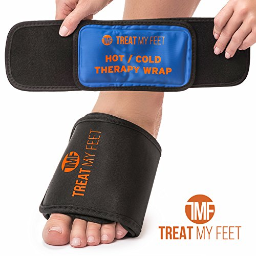 Hot/Cold Therapy Foot Arch Wrap - Instant Relief for foot pain, strains and sprains, soothing compression therapy easing swollen, painful feet - perfect for runners, athletes and plantar fasciitis