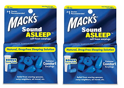 Macks Sound Asleep Soft Foam Earplugs, 12-Count (Pack of 2)