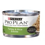 Purina Pro Plan Wet Cat Food, Savor, Adult Turkey and Rice Entre, 3-Ounce Can, Pack of  24
