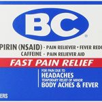 BC Aspirin Fast Pain Relief Powder – Quickly Relieves Pain Due to Headaches, Body Aches, and Fever – Contains Caffeine – 50 Powders