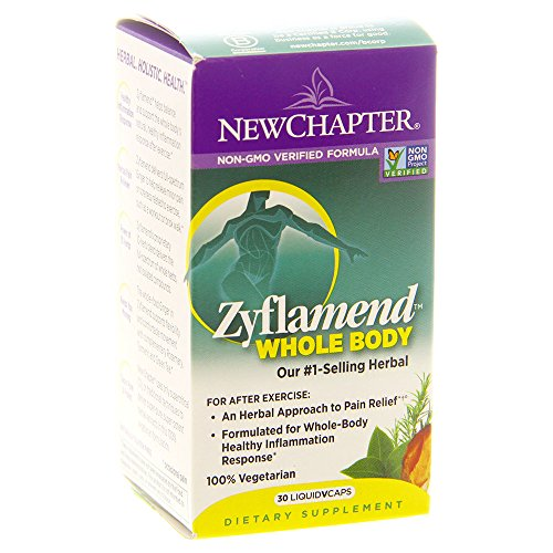 New Chapter Joint Supplement + Herbal Pain Relief - Zyflamend Whole Body for Healthy Inflammation Response - 30 ct
