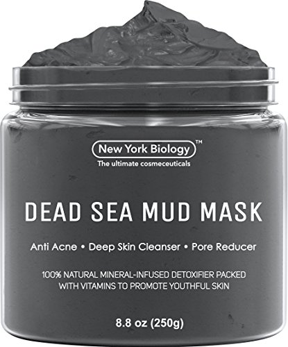 Dead Sea Mud Mask for Face & Body - 100{0ad59209ba3ce7f48e71d4a0dc628eee9b107ea7079661ded2b3bda89b047a8b} Natural Spa Quality - Best Pore Reducer & Minimizer to Help Treat Acne , Blackheads & Oily Skin – Tightens Skin for a Visibly Healthier Complexion – 8.8 OZ