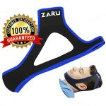 PREMIUM Anti Snore Chin Strap by ZARU [UPGRADED VERSION] – Advanced Snoring Aid Scientifically Designed To Stop Snoring Naturally and Give You The Best Sleep of Your Life! (Fits Most)