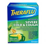 Theraflu Nighttime Severe Cold and Cough Medicine, Honey Lemon, Chamomile, and White Tea Flavors, 12 Count