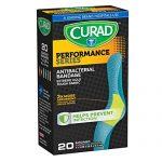 Curad Performance Series Antibacterial Adhesive Bandages, 1 X 3.25 Inch, 20 count