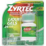 Zyrtec Allergy Liquid Gels, 24 Hour , 40 Count