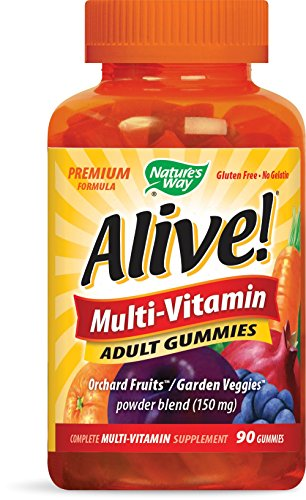 Nature's Way Alive! Premium Formula Multi-Vitamin Adult Gummies, 90 Count
