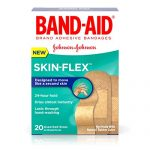 Band-Aid Brand Adhesive Bandages Skin-Flex Assorted 20 Count